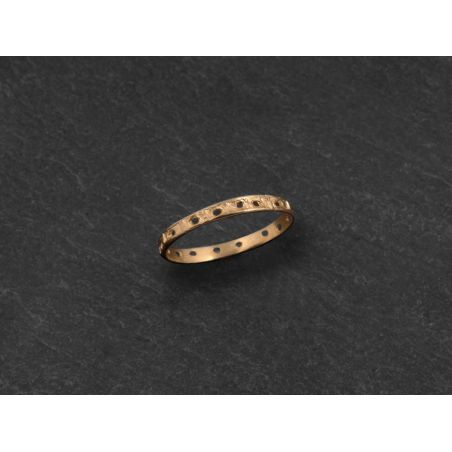 Minos peforated yellow gold ring by Emmanuelle Zysman