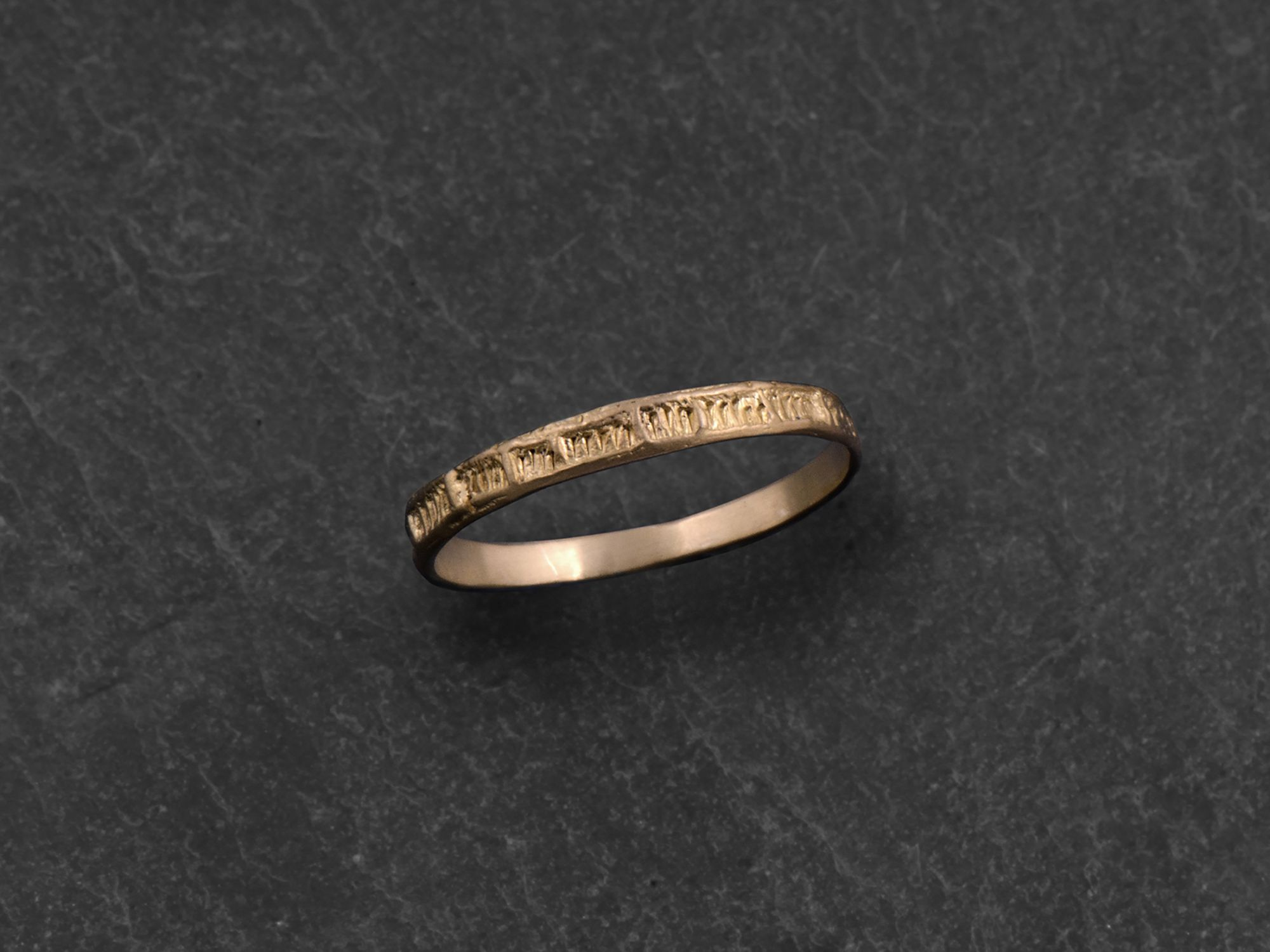 Minos yellow gold ring by Emmanuelle Zysman