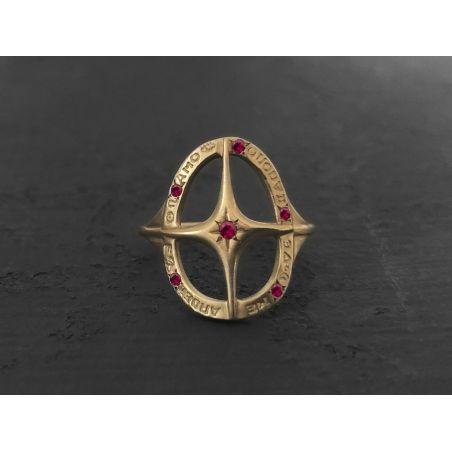 Amo Quod ruby ring by Emmanuelle Zysman