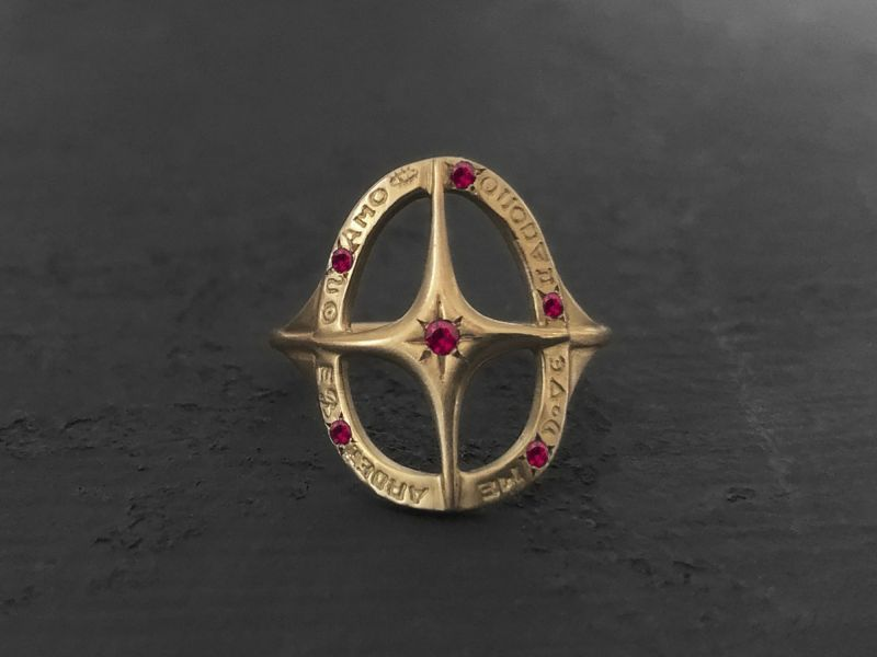 Amo Quod ruby ring by Emmanuelle Zysman