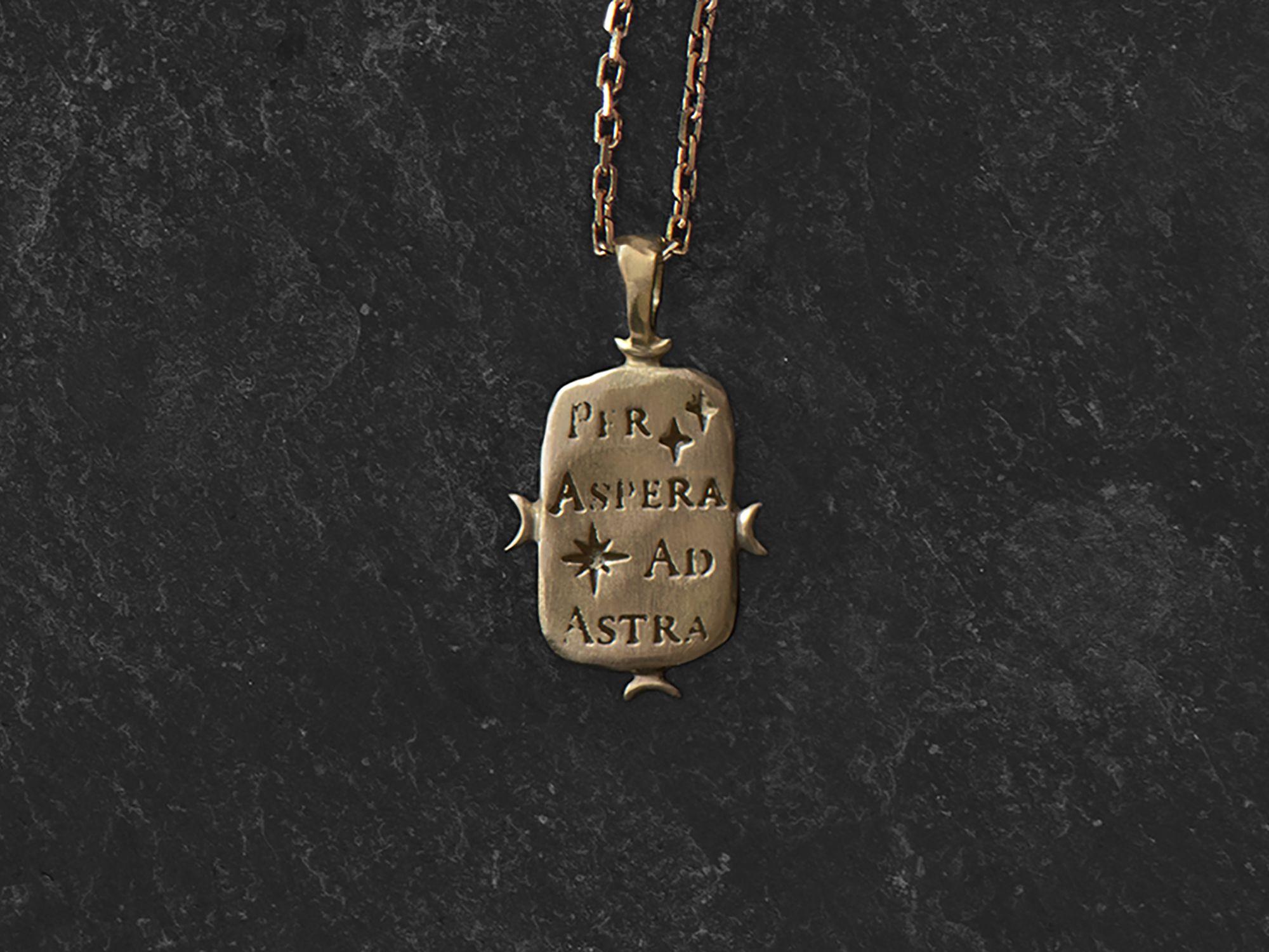Ad Astra vermeil necklace by Emmanuelle Zysman