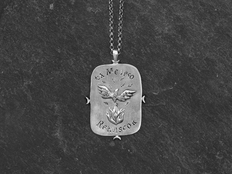 Phenix necklace for men by Emmanuelle Zysman