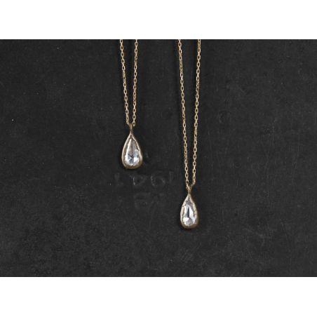 Twinkle rosecut white diamond necklaces by Emmanuelle Zysman