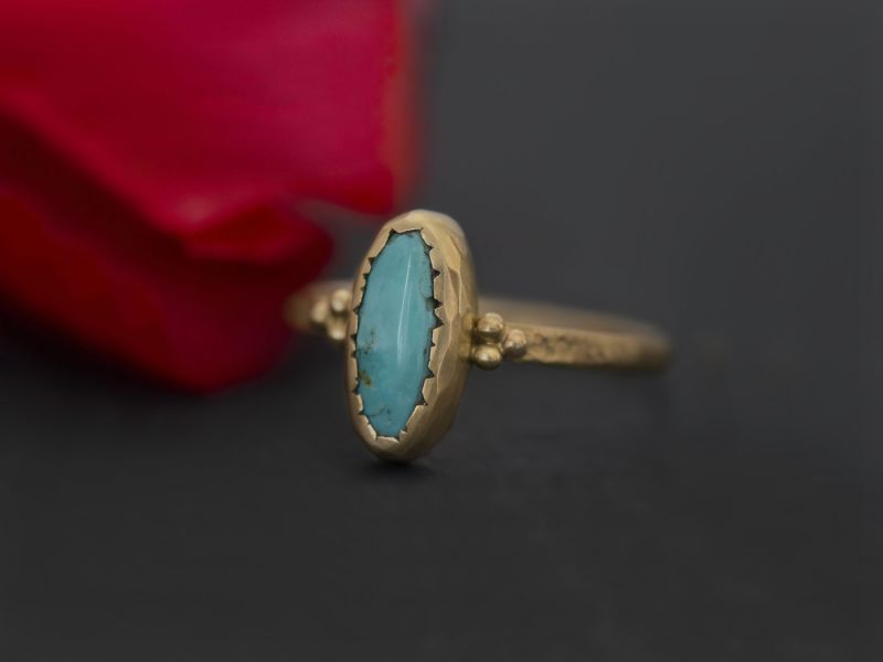 Romy turquoise ring by Emmanuelle Zysman
