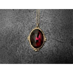 Collier Enigma yellow gold and 7,12cts pink tourmaline necklace by Emmanuelle Zysman