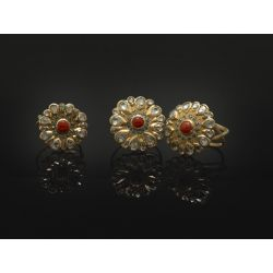 Vesna Coral Diamond rings by Emmanuelle Zysman