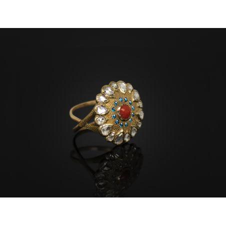 Vesna Coral Diamond large ring A by Emmanuelle Zysman