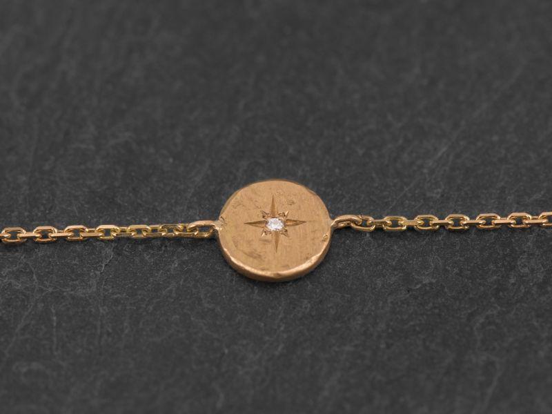 Bracelet Astarté or jaune par Emmanuelle Zysman