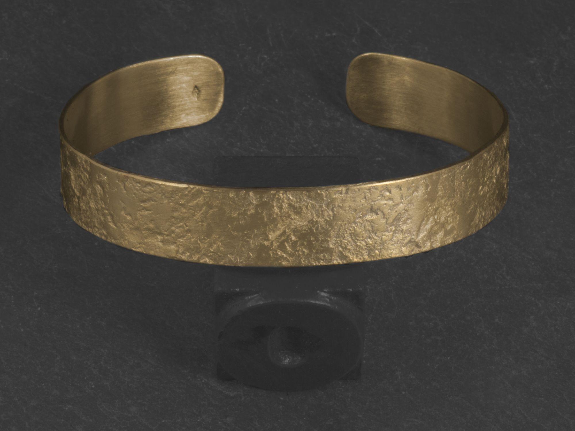 Bracelet Double Diane vermeil martelé