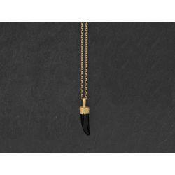 Collier Byzance vermeil mini griffe agate noire par Emmanuelle Zysman