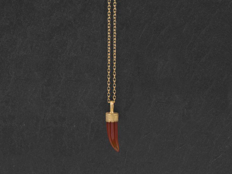Collier Byzance vermeil mini griffe cormaline par Emmanuelle Zysman