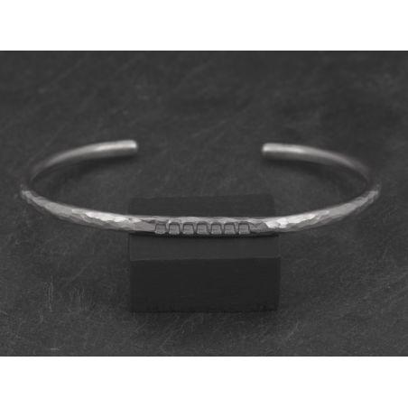 Bracelet Loulou argent rhodié homme par Emmanuelle Zysman