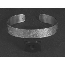 Bracelet Double Ulysse argent rhodié martelé HOMME par Emmanuelle Zysman