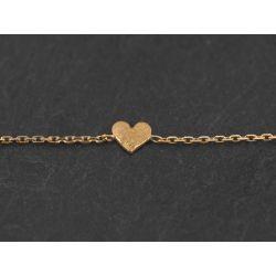 Bracelets Sweetheart or jaune par Emmanuelle Zysman
