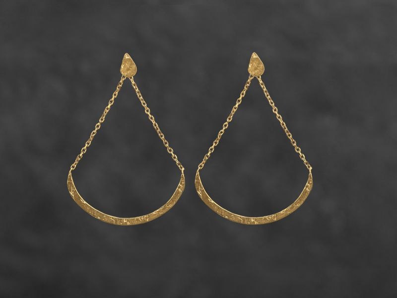 Swing vermeil earrings