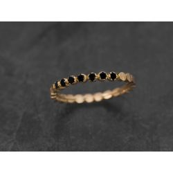 Honey halfmoon yellow gold ring by Emmanuelle Zysman