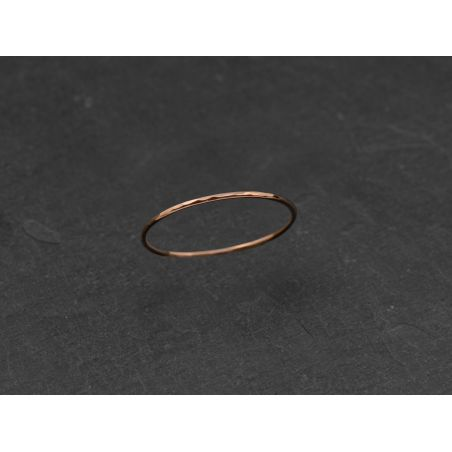 Mon Cheri pink gold thin ring by Emmanuelle Zysman