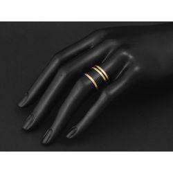 Mon Cheri vermeil hammered rings by Emmanuelle Zysman
