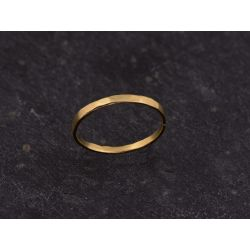 Mon Cheri vermeil hammered large ring by Emmanuelle Zysman