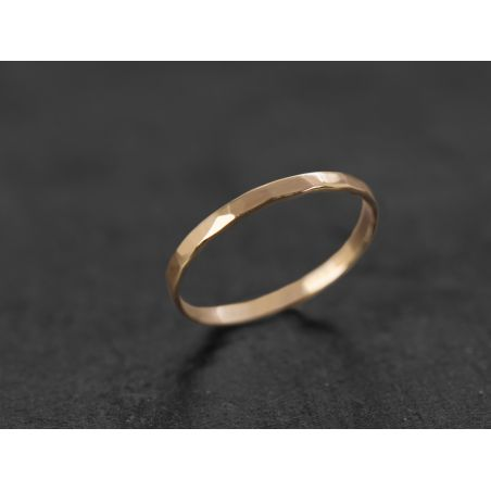 Mon Cheri yellow gold large ring by Emmanuelle Zysman