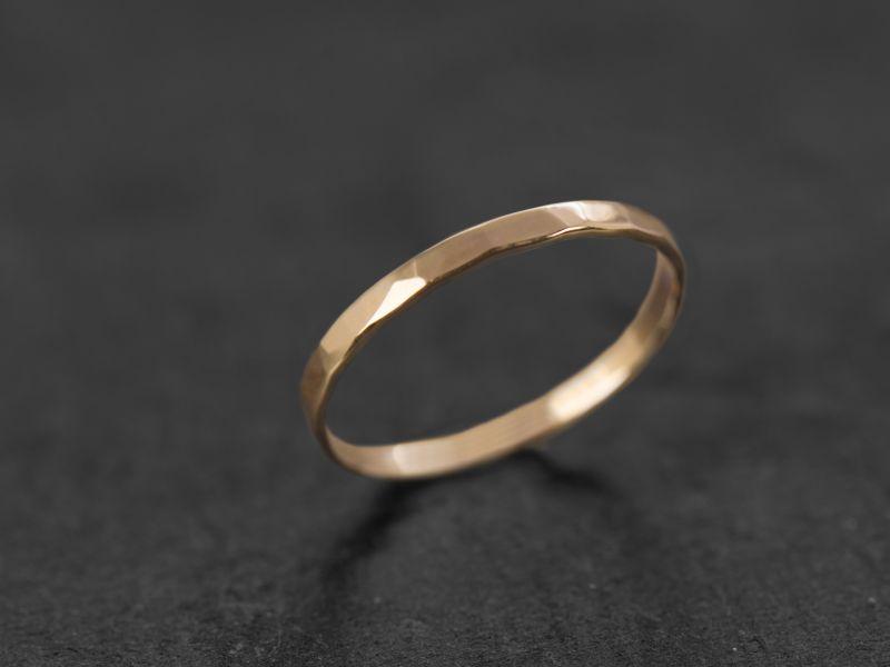 Mon Cheri yellow gold large ring by Emmanuelle Zysman