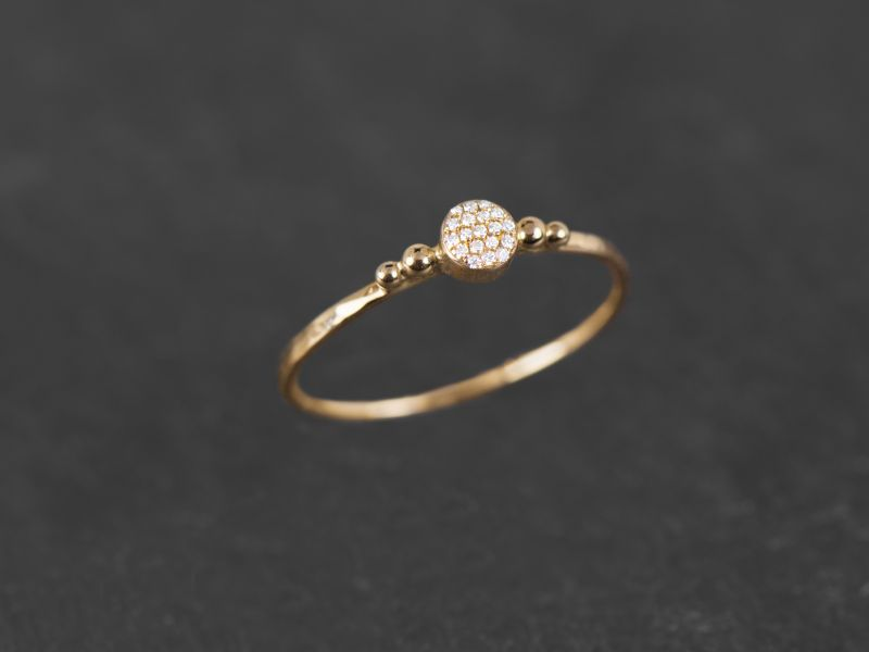Constellation yellow gold ring by Emmanuelle Zysman